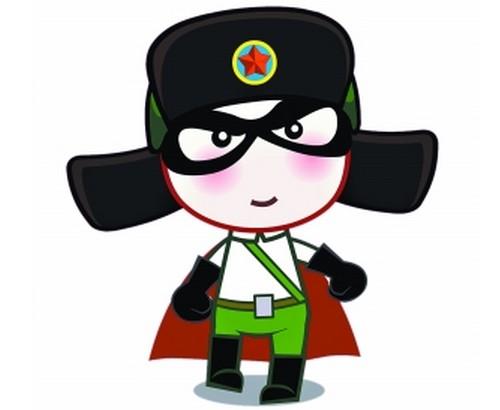 """身披红披风的卡通人物形象:动漫版的""""雷锋"""