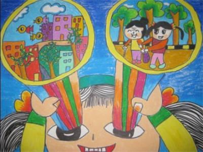 童剪纸画步骤窗花